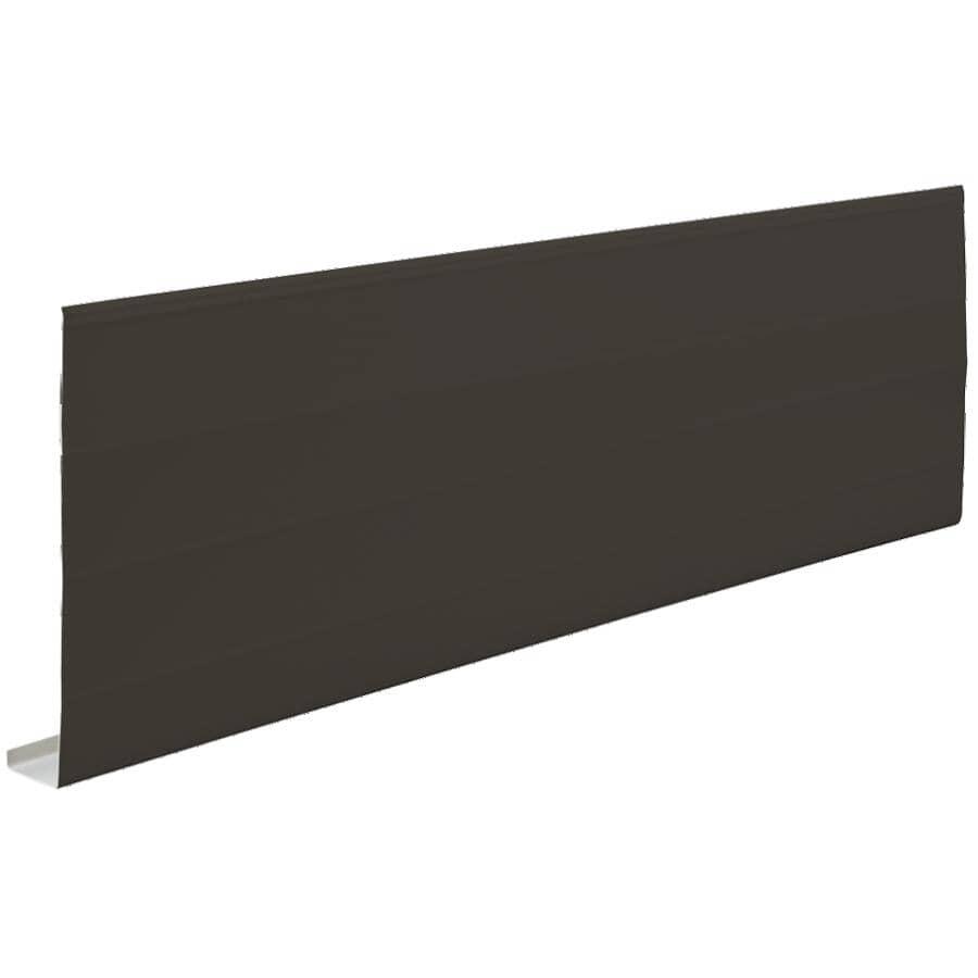 KAYCAN:Fascia en aluminium nervuré de 1 po x 8 po x 9 pi 10 po, brun commercial