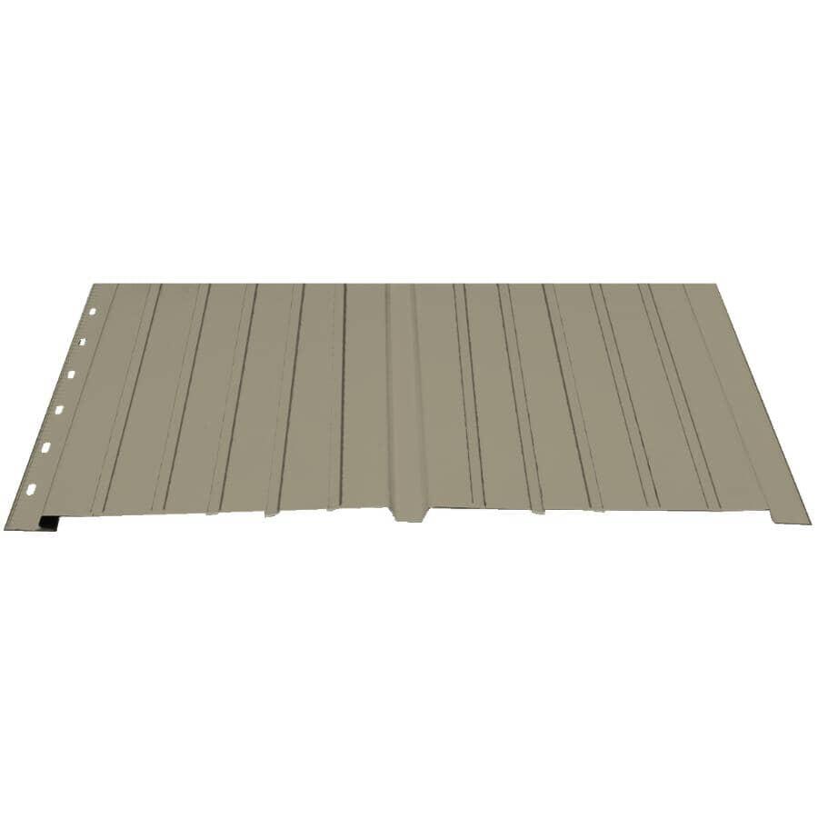 """KAYCAN:16"""" x 12' Prestige Beige Plain Deluxe Aluminum Soffit"""