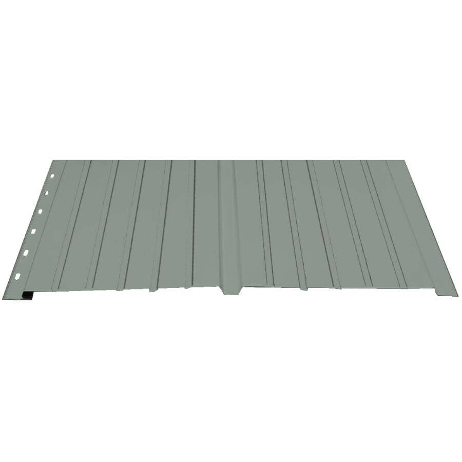 "KAYCAN:16"" x 12' Slate Grey Plain Deluxe Aluminum Soffit"