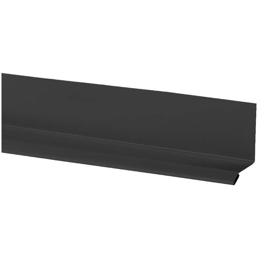"""KAYCAN:3"""" x 12' Flat Black Aluminum Drip Cap"""