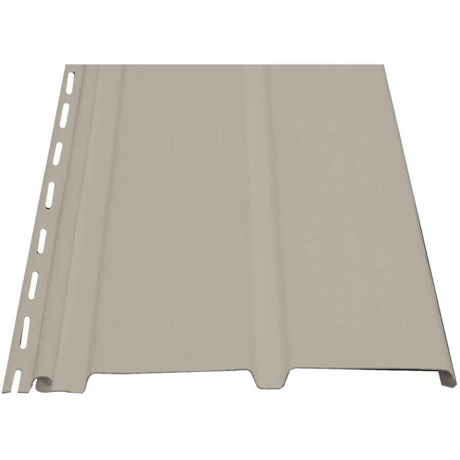 """KAYCAN:10"""" x 12' Bisque 2 Panel Plain Vinyl Soffit"""
