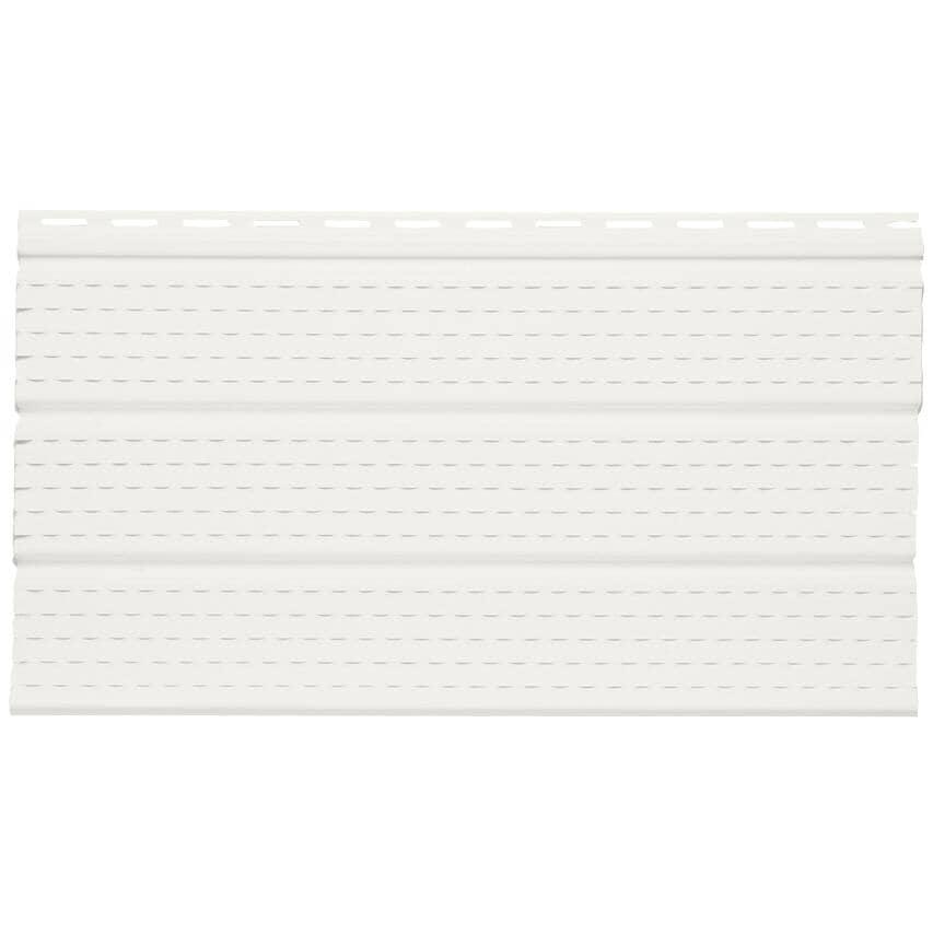 "GENTEK:12"" x 12' White 3 Panel Solid Vinyl Soffit"