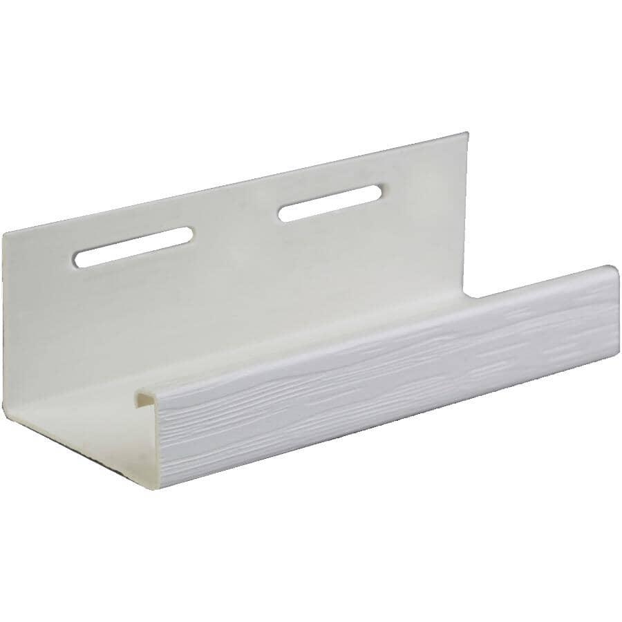 KAYCAN:1-5/8 x 12' White Vinyl J-Trim
