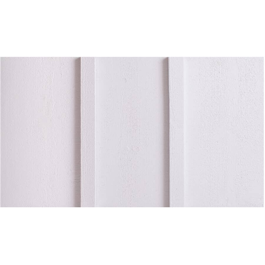 "FRASER WOOD SIDING:1"" x 10"" Ultra White Board Wood Siding, by Linear Foot"