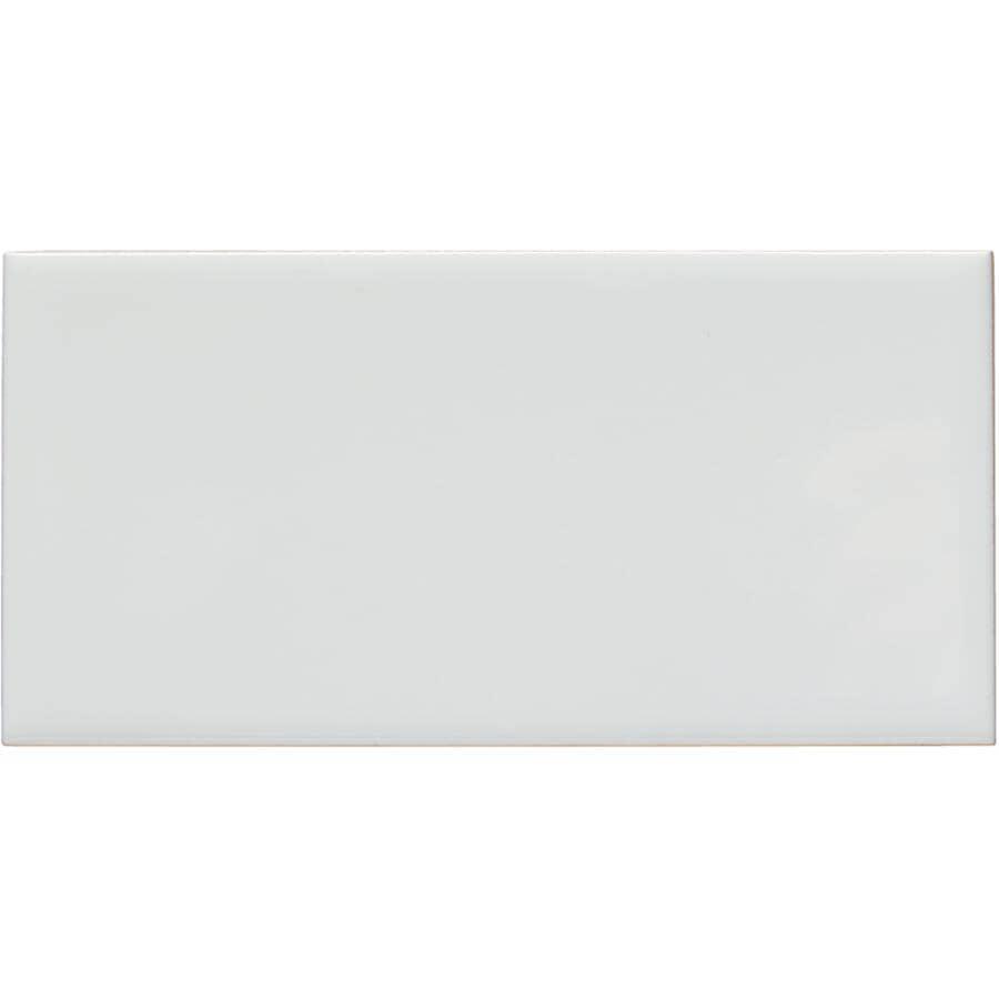 """SHNIER:10.56 Sq. Ft. 88 Pack 3"""" x 6"""" White Subway Tiles"""