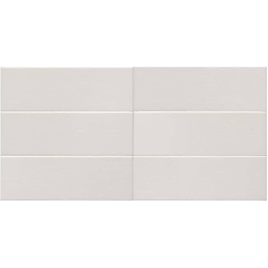 SHNIER:10.88 Sq. Ft. 34 Pack White Aura Porcelain Tiles