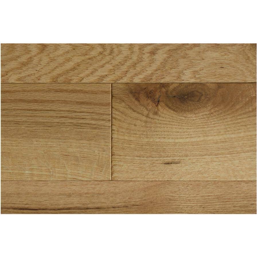 "GOODFELLOW:Originals Nature Collection 3/4"" x 4-1/4"" Wire Brushed Red Oak Hardwood Flooring - Naturel, 19 sq. ft."