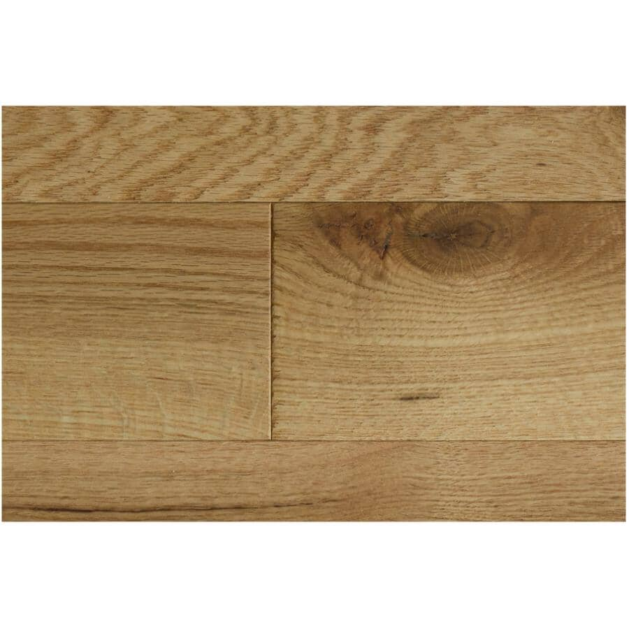 "GOODFELLOW:Originals Nature Collection 3/4"" x 3-1/4"" Wire Brushed Red Oak Hardwood Flooring - Naturel, 20 sq. ft."