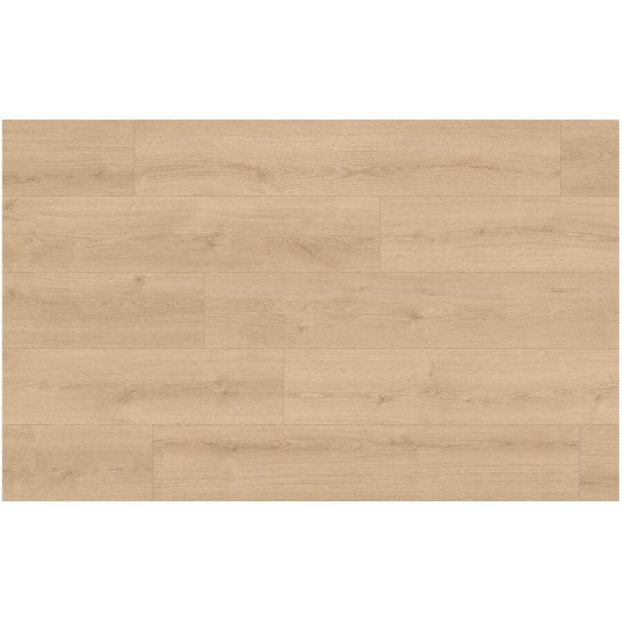 "SHNIER:AquaPro Collection 7"" x 54"" Laminate Plank Flooring - Crystal, 20.11 sq. ft."