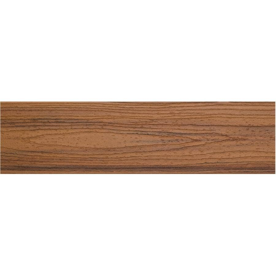 TREX:Planche de terrasse Transcend de 1-3/8 po x 5-1/2 po x 16 pi avec rebord carré, Tiki Torch