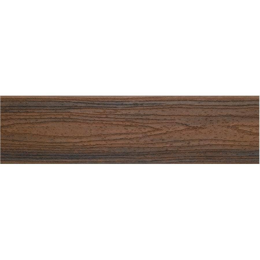 TREX:Planche de terrasse Transcend de 1-3/8 po x 5-1/2 po x 16 pi avec rebord carré, Spiced Rum