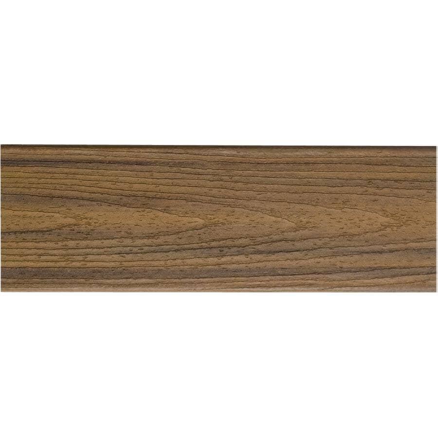 TREX:Planche de terrasse Transcend de 1 po x 5-1/2 po x 16 pi avec rebord carré, Havana Gold