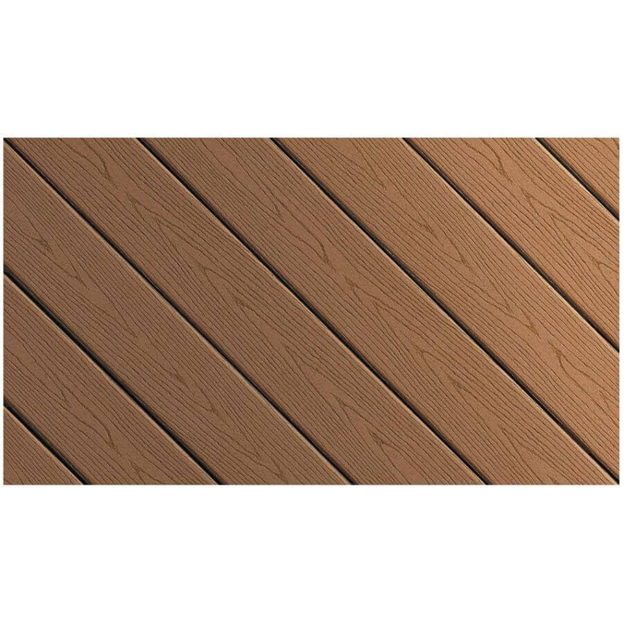 FIBERON:Planche de terrasse Good Life avec rebord embouveté de 0,93 po x 5,25 po x 12 pi, chalet