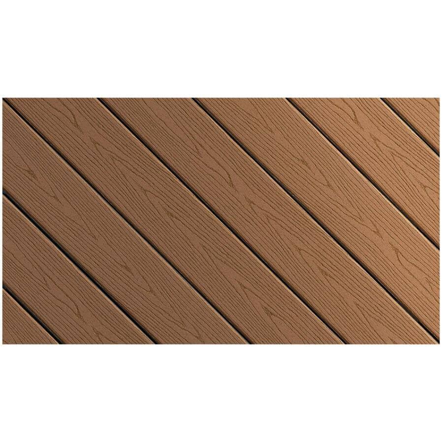 FIBERON:Planche de terrasse Good Life avec rebord embouveté de 0,93 po x 5,25 po x 16 pi, chalet