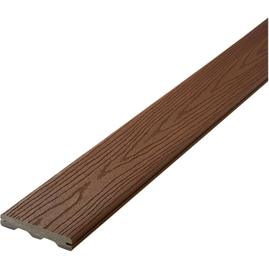 FIBERON:Planche de terrasse Good Life avec rebord embouveté de 0,93 po x 5,25 po x 20 pi, chalet