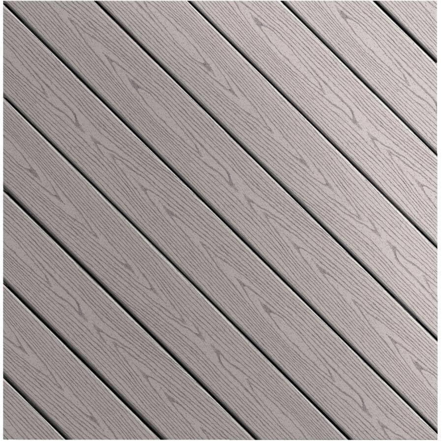 FIBERON:Planche de terrasse Good Life avec rebord carré de 0,93 po x 5,25 po x 20 pi, chalet