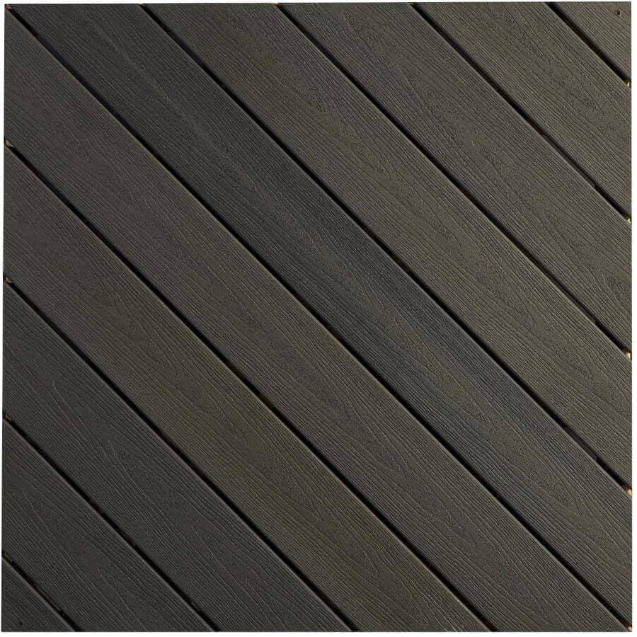 FIBERON:Planche de terrasse Sanctuary avec rebord embouveté de 0,925 po x 5,25 po x 12 pi, earl grey