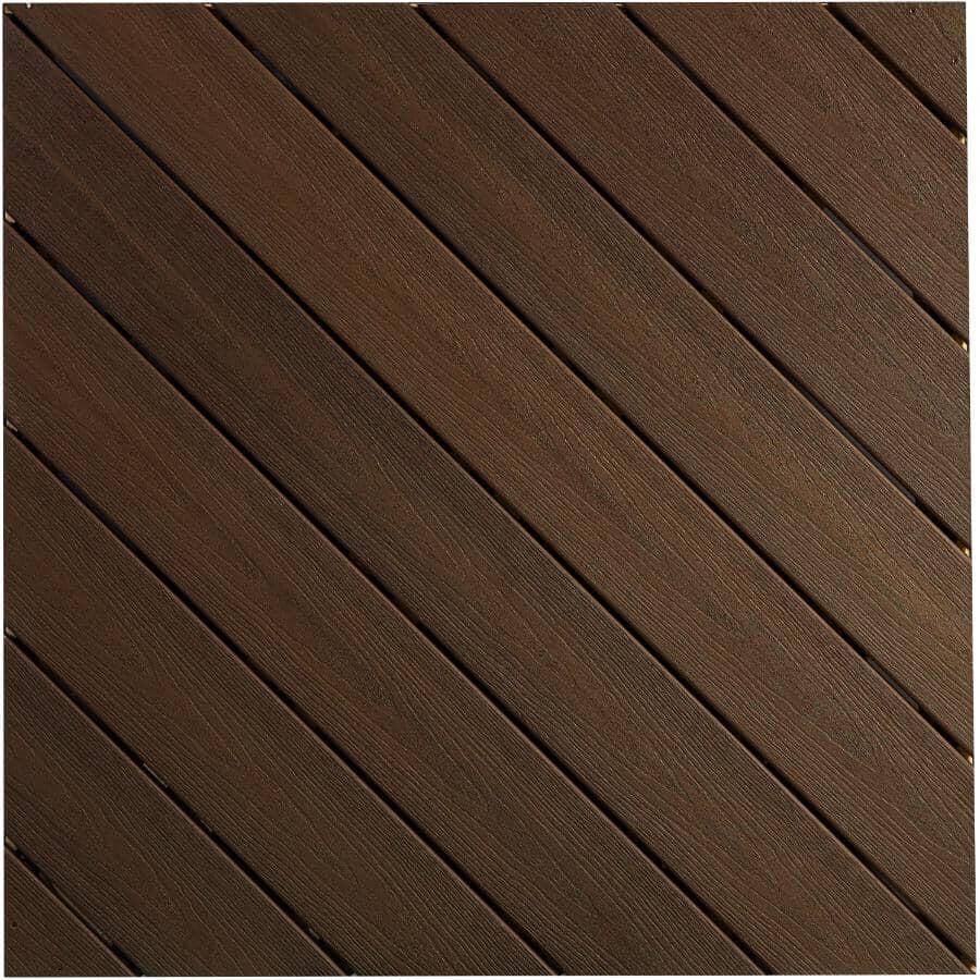 FIBERON:Planche de terrasse Sanctuary avec rebord embouveté de 0,925 po x 5,25 po x 20 pi, espresso