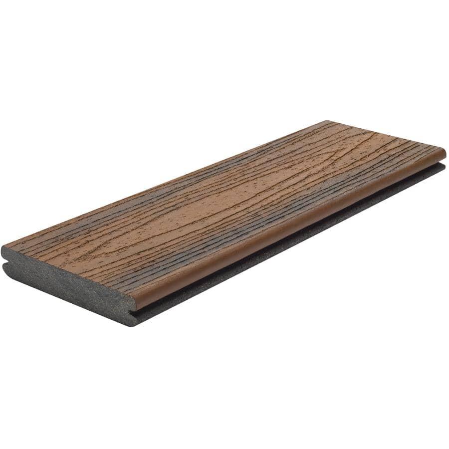 TREX:Planche de terrasse Transcend de 1 po x 5-1/2 po x 12 pi avec rebord embouveté, Spiced Rum