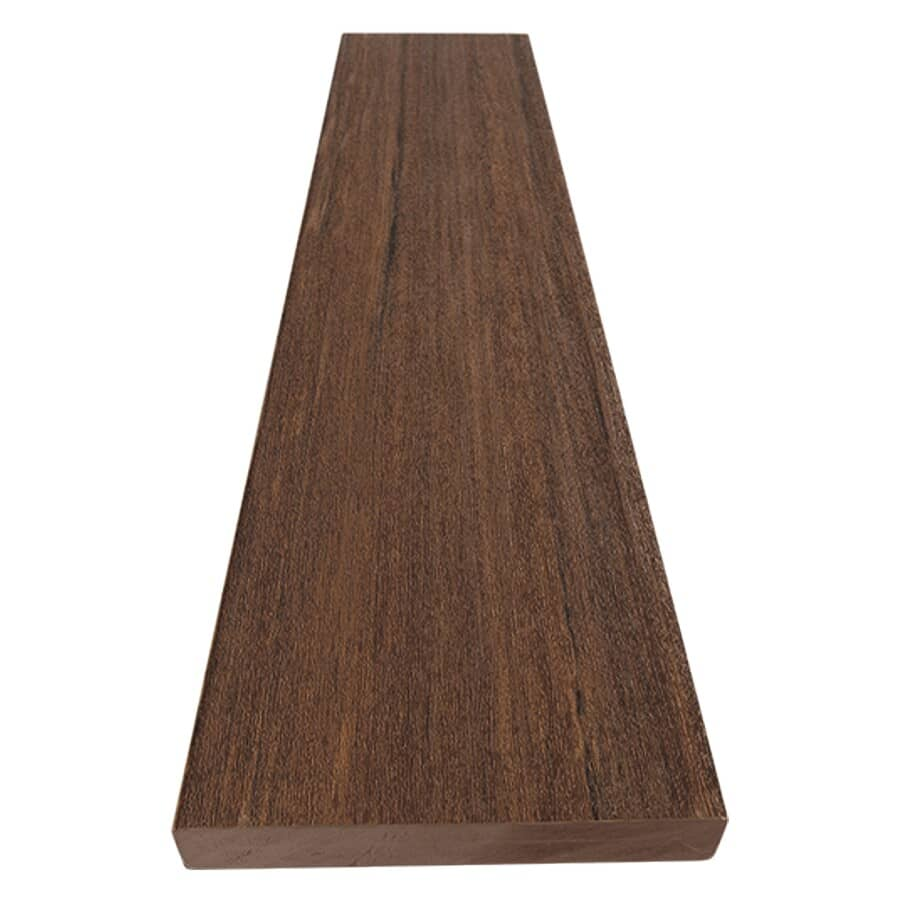 "AZEK:1"" x 5-1/2"" x 20' Vintage Square Edge Mahogany Deck Board"