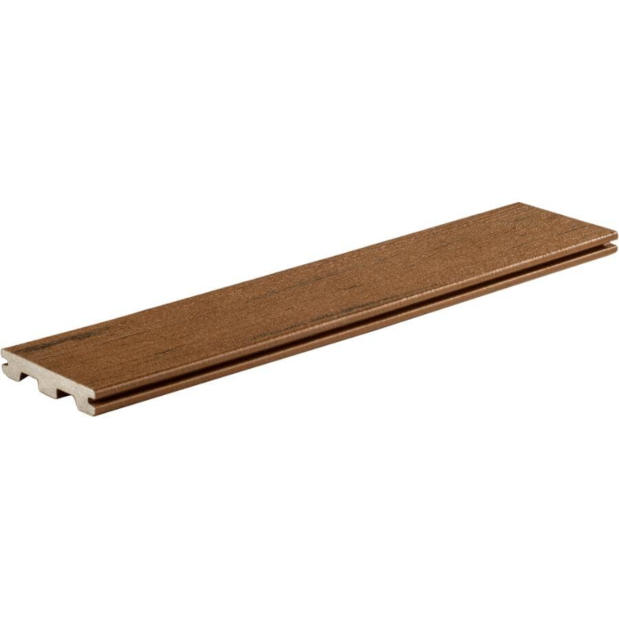 "TIMBERTECH:1"" x 5-1/2"" x 12' Brown Oak Grooved Edge Deck Board"
