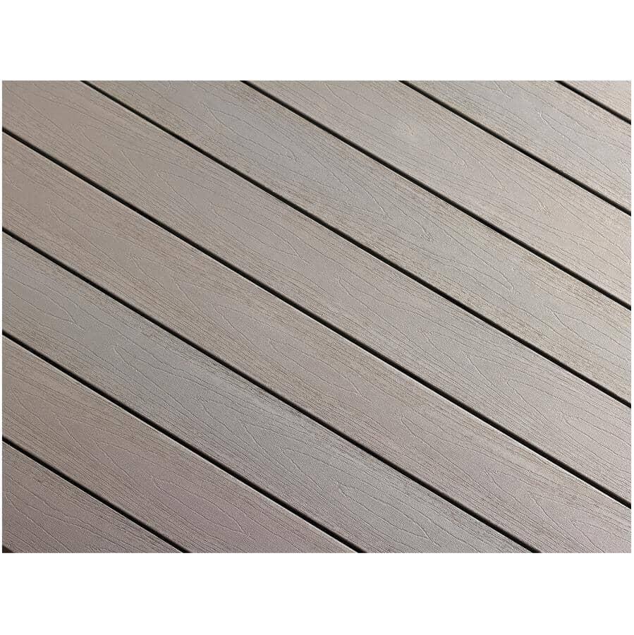 "TRUNORTH DECK:1"" x 5-1/8"" x 12' AccuSpan Stone Grey Grooved Edge Deck Board"