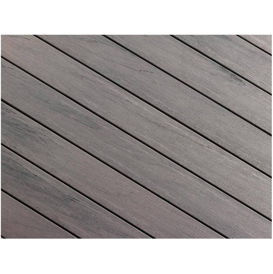"TRUNORTH DECK:1"" x 5-1/8"" x 16' AccuSpan Variegated Amazon Grey Grooved Edge Deck Board"