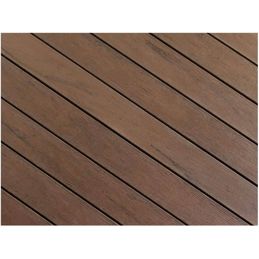 "TRUNORTH DECK:1"" x 5-1/8"" x 16' AccuSpan Variegated Tropical Walnut Grooved Edge Deck Board"