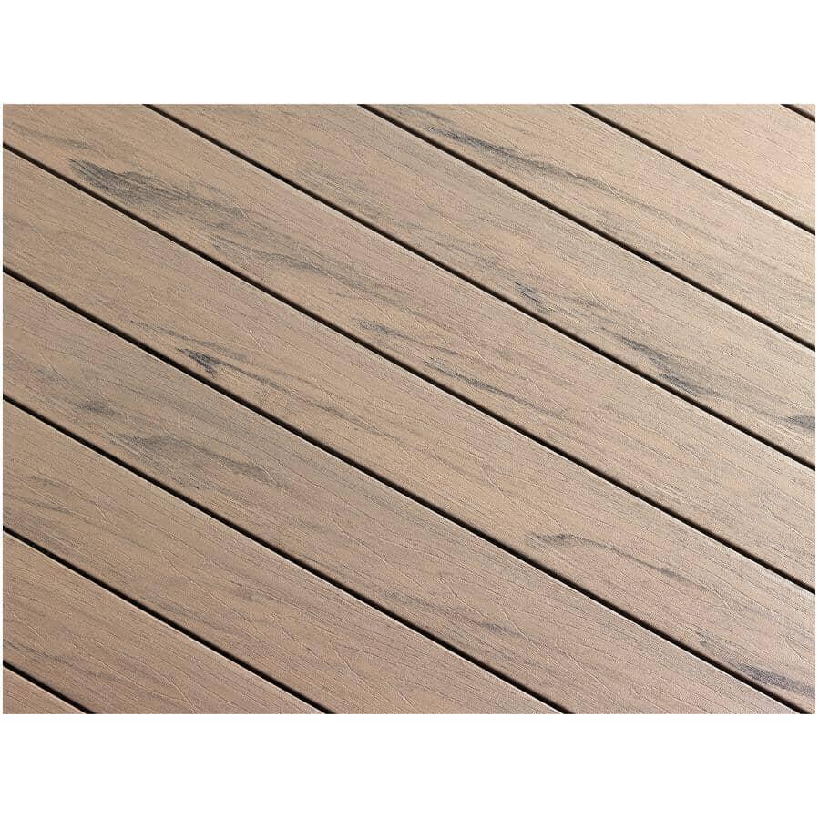 "TRUNORTH DECK:1"" x 5-1/8"" x 16' AccuSpan Variegated Hazelwood Grooved Edge Deck Board"