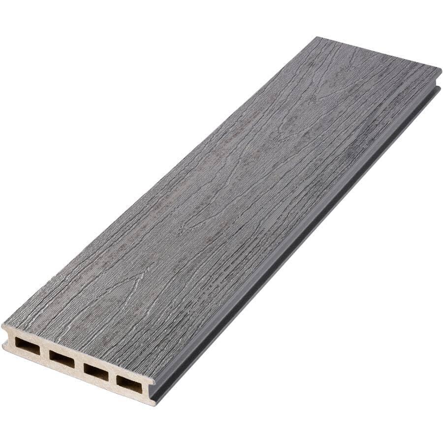 "TRUNORTH DECK:1"" x 5-1/8"" x 20' Amazon Grey Variegated Grooved Edge EnviroBoard Deck Board"