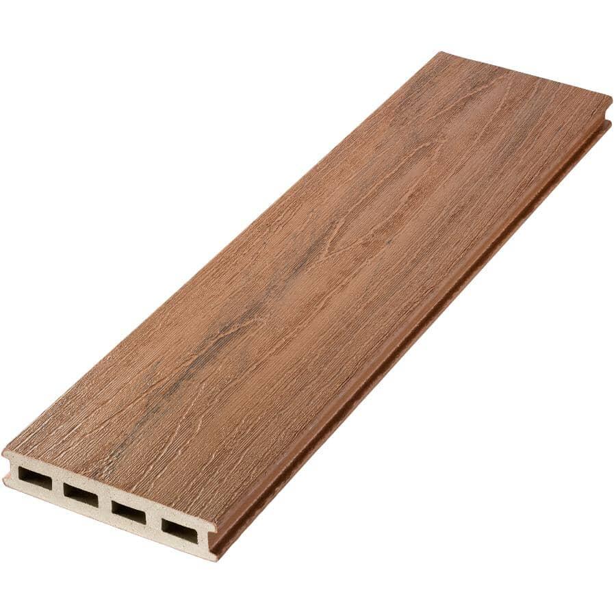"TRUNORTH DECK:1"" x 5-1/8"" x 12' Tigerwood Variegated Grooved Edge EnviroBoard Deck Board"