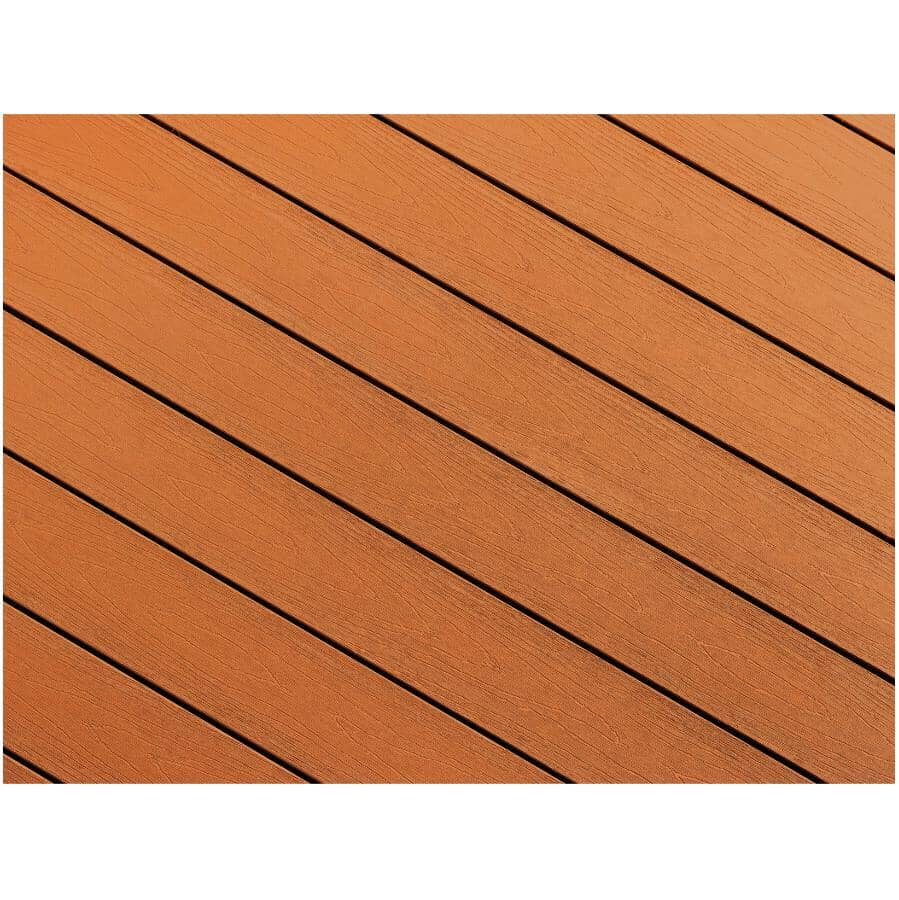 "TRUNORTH DECK:1"" x 5-1/8"" x 16' NorthernLite Caramel Solid Edge Deck Board"