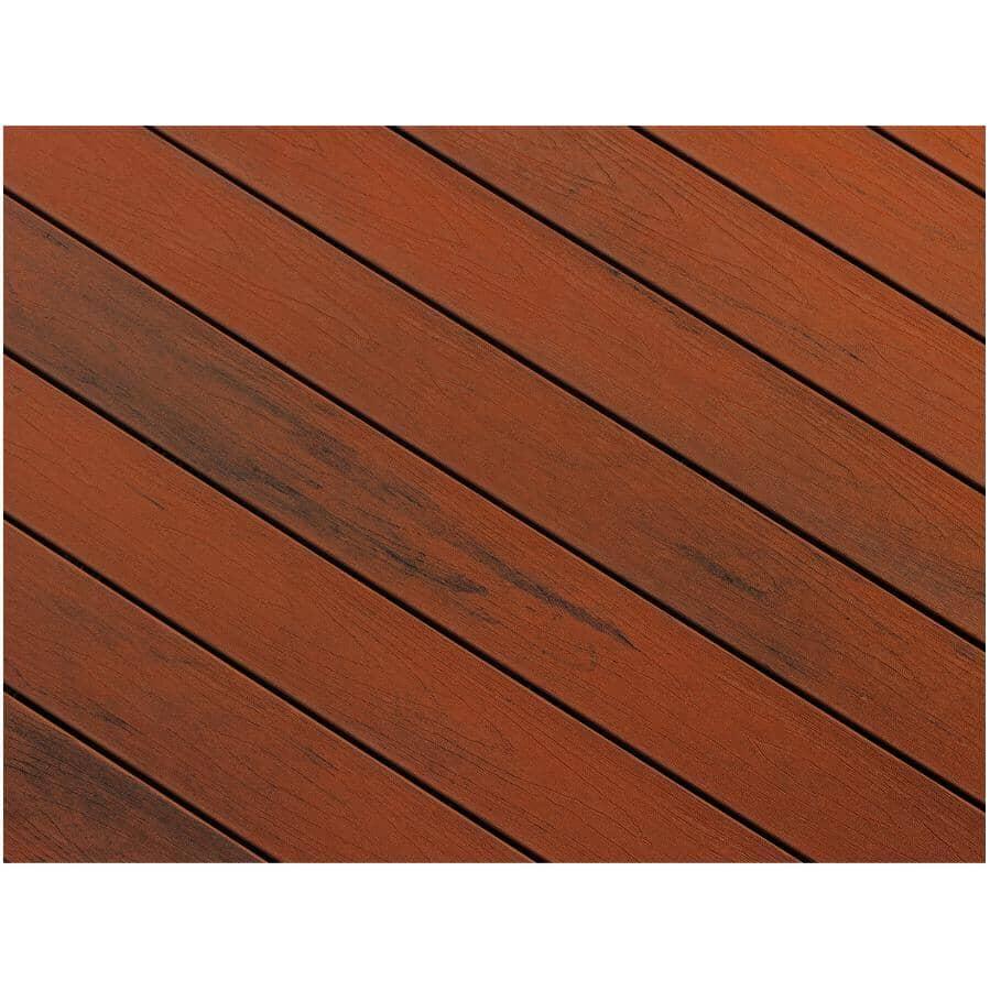 "TRUNORTH DECK:1"" x 5-1/8"" x 16' NorthernLite Brazilian Cherry Variegated Solid Edge Deck Board"
