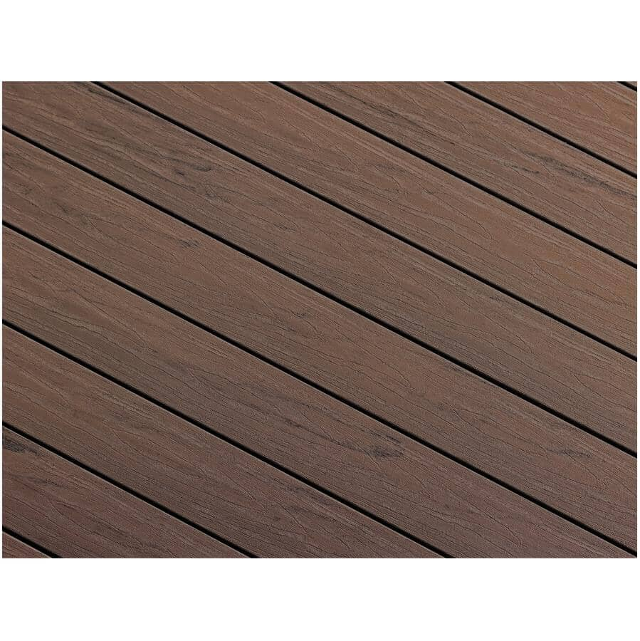 "TRUNORTH DECK:1"" x 5-1/8"" x 20' NorthernLite Ash Grey Variegated Solid Edge Deck Board"