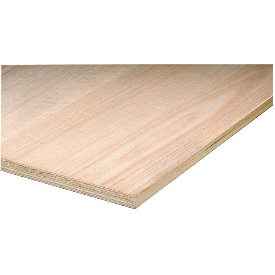 """METRIE:4' x 8' x 1/2"""" (12.5 mm) Veneer Core Red Oak Plywood"""