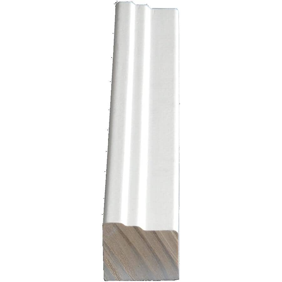 """ALEXANDRIA MOULDING:1-1/4"""" x 1-1/2"""" Finger Jointed Pine Primed Brickmould Moulding, by Linear Foot"""