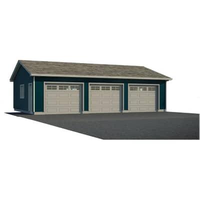 36 X28 3 Door Garage Package With, Garage Loft Plans Home Hardware
