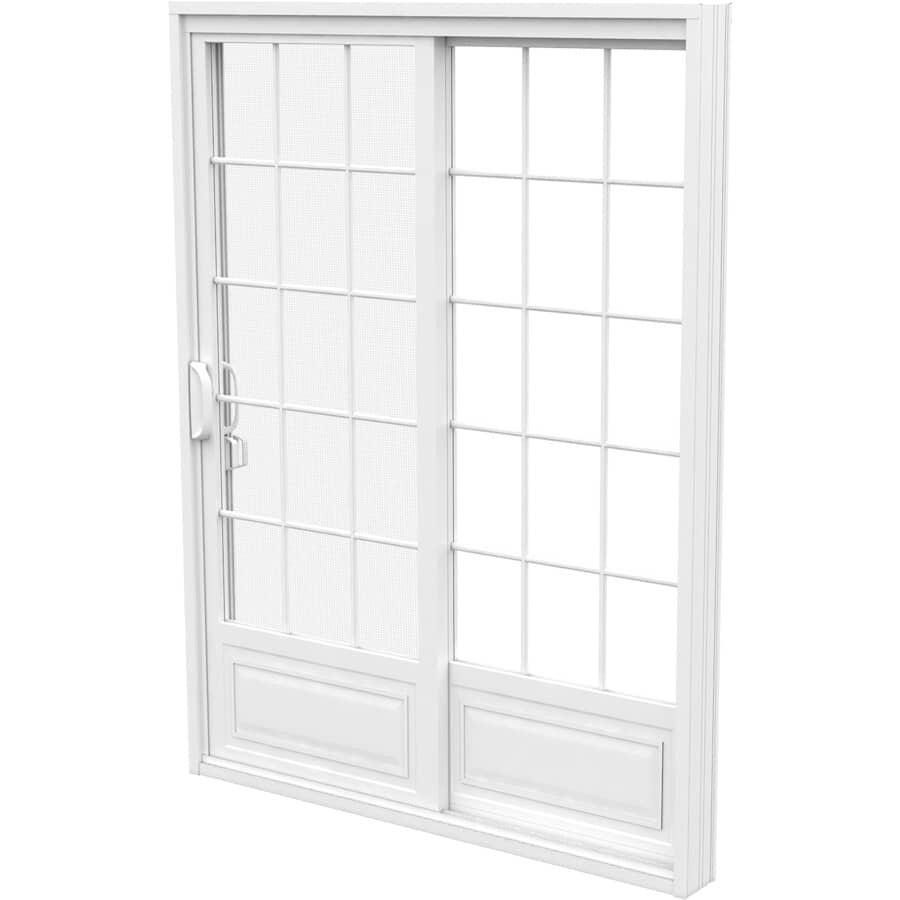 """STANDARD DOORS:5' x 6'8"""" Fixed Operating 1+1 PVC Garden Door, with Grille"""