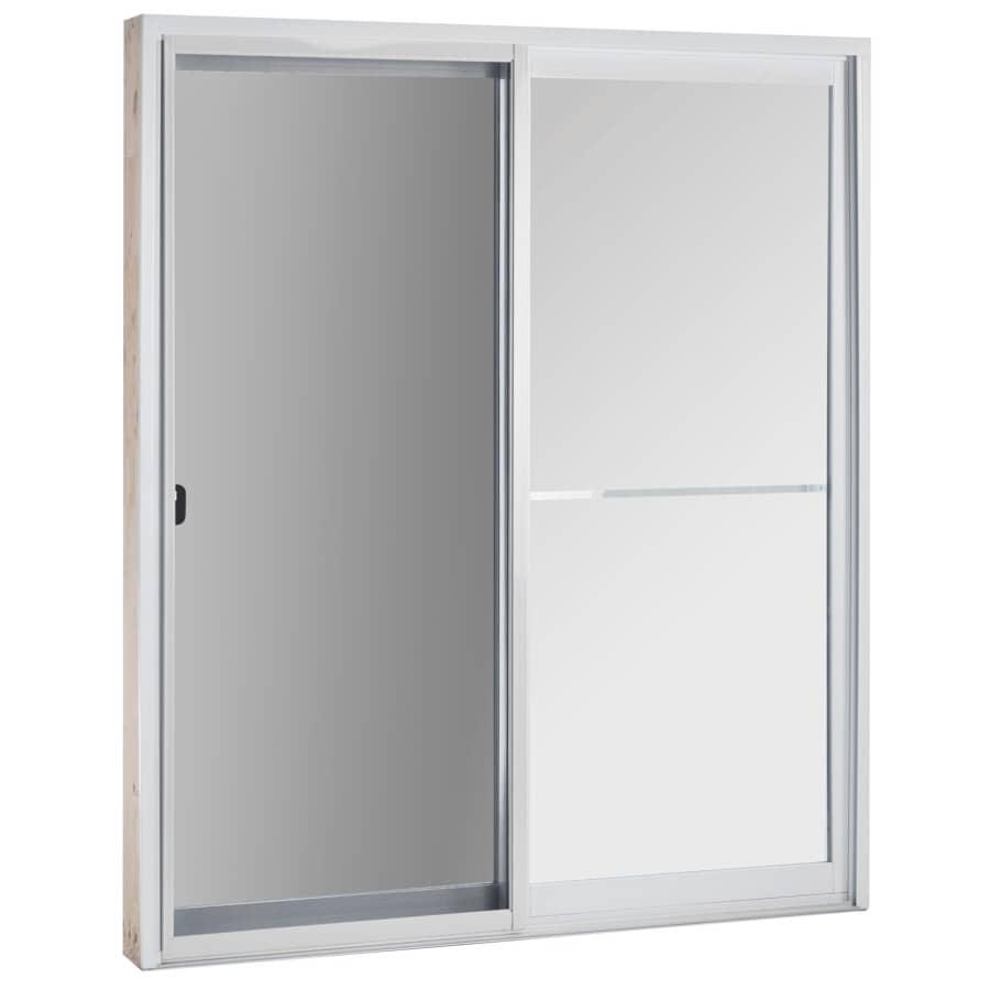 DIMENSIONS PORTES ET FENETRES:Porte-fenêtre Astral fixe/opérationelle de 6pi à verre à faible émissivité, avec montant de 7-1/4 po