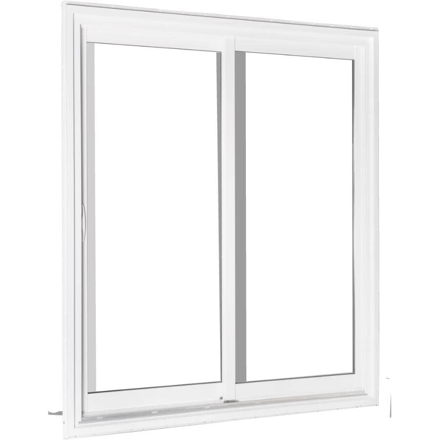 """KOHLTECH:6' x 6'8"""" Select Fixed Operating Low-e PVC Patio Door, with Brickmould"""