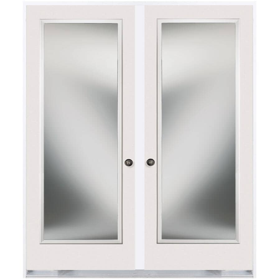 """DOORSMITH:30"""" x 82"""" Left Hand Garden Double Steel Door, with 20"""" x 64"""" Clear Glass"""
