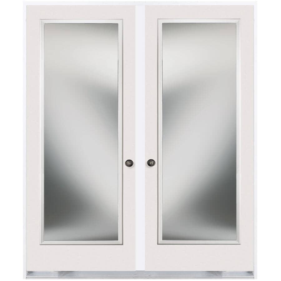 """DOORSMITH:32"""" x 82"""" Right Hand Garden Double Steel Door, with 22"""" x 64"""" Clear Glass"""