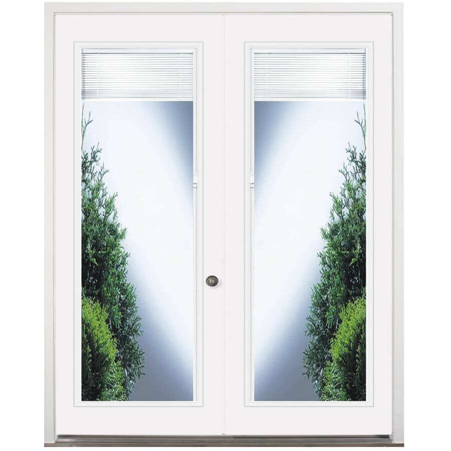"""DOORSMITH:30"""" x 82"""" Left Hand Garden Double Steel Door, with 20"""" x 64"""" Blind Lite"""