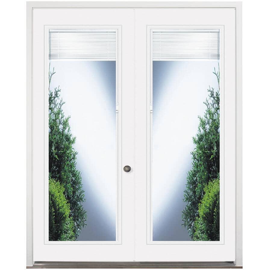 """DOORSMITH:32"""" x 82"""" Left Hand Garden Double Steel Door, with 22"""" x 64"""" Blind Lite"""