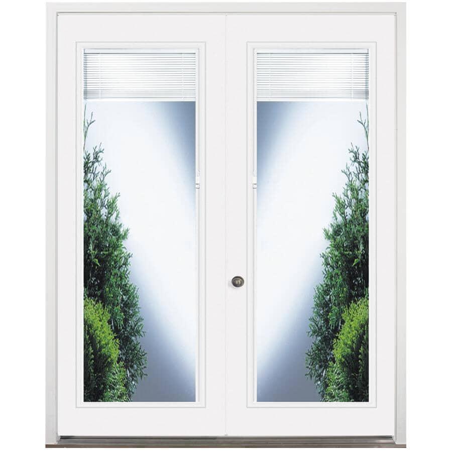 """DOORSMITH:32"""" x 82"""" Right Hand Garden Double Steel Door, with 22"""" x 64"""" Blind Lite"""
