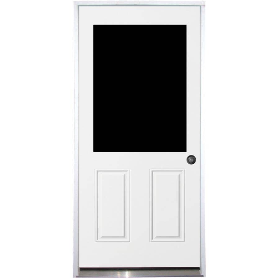 """DOORSMITH:32"""" x 80"""" Utility Left Hand Steel Door - with 22"""" x 36"""" Lite"""