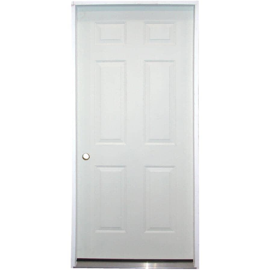 """DOORSMITH:34"""" x 80"""" Utility Right Hand 6 Panel Steel Door"""