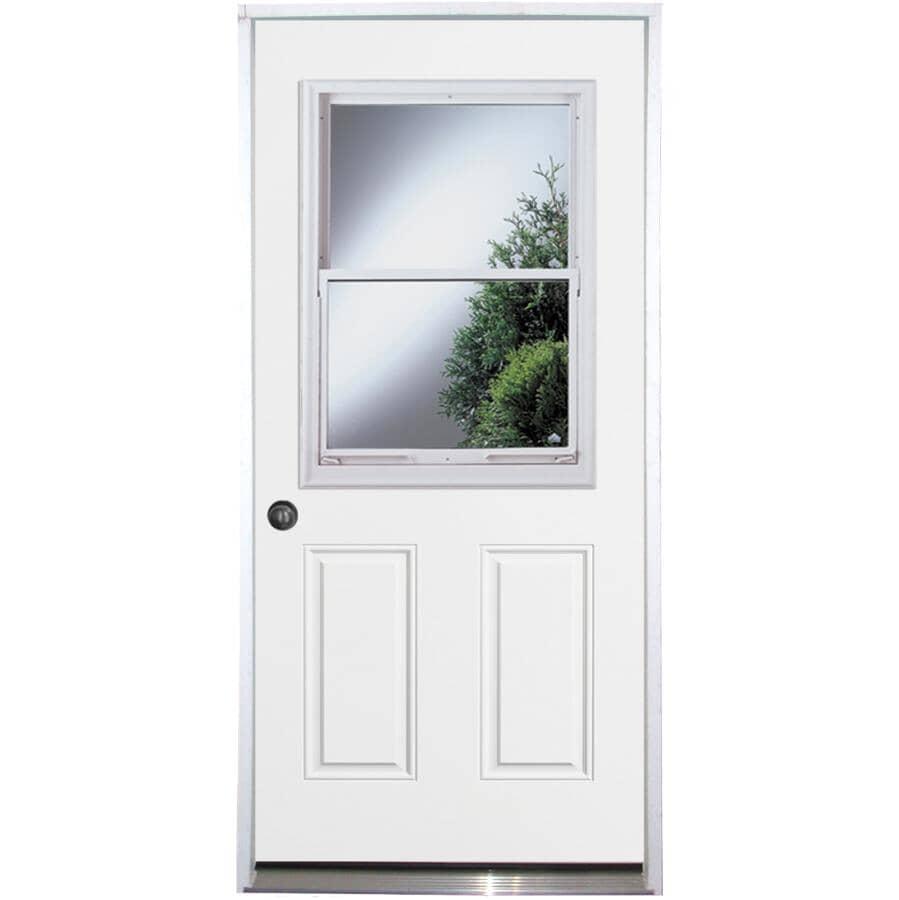 """DOORSMITH:34"""" x 80"""" Utility Right Hand Steel Door - with Vented 22"""" x 36"""" Lite"""