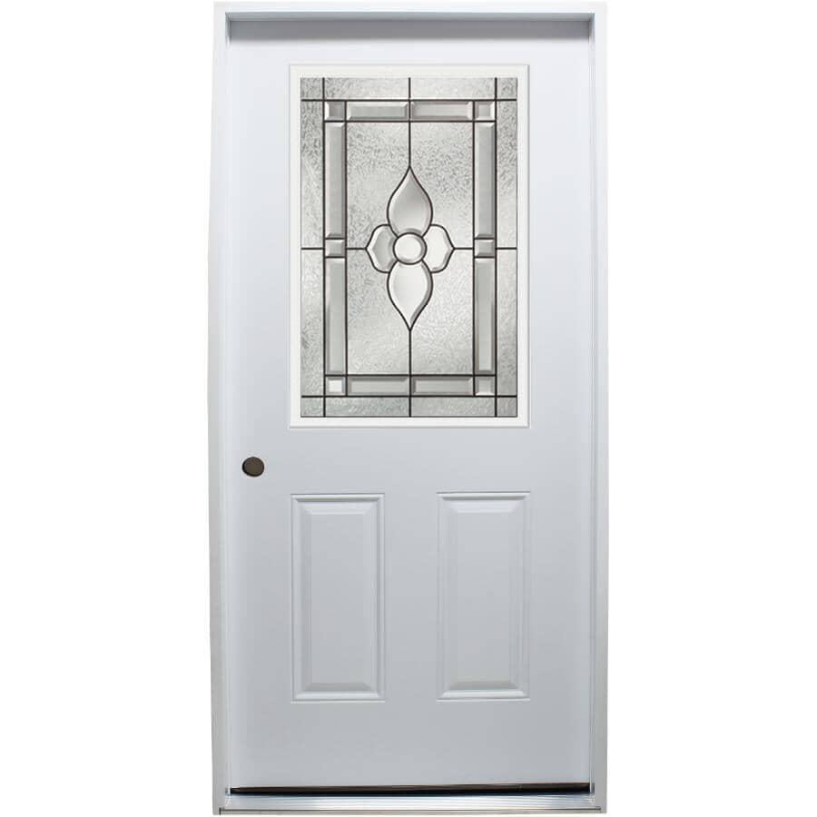 "DOORSMITH:32"" x 80"" Right Hand Polytech Steel Door, with Nouveau 22"" x 36"" Lite"