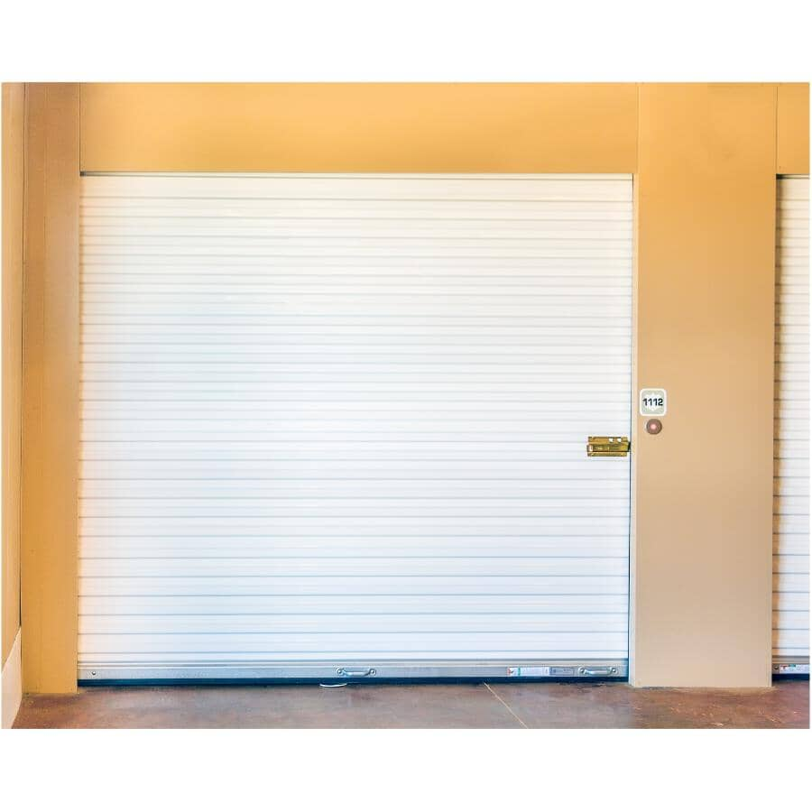"VICWEST:5' x 6'8"" White Roll-Up Garage Door"